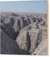 Badlands S.dakota Landscape  Wood Print