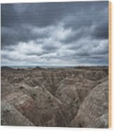 Badlands White River Valley  Wood Print
