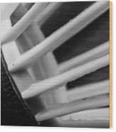 Badminton Shuttlecock Abstract Monochrome Wood Print
