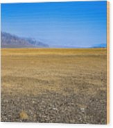 Badwater Basin In Death Valley Wood Print