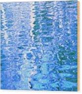 Baffling Blue Water Wood Print