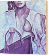 Bag Lady Wood Print