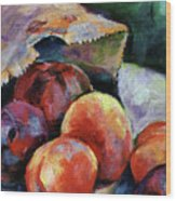 Bag Of Fruit Wood Print