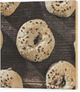 Bagels Wood Print by Deyan Georgiev