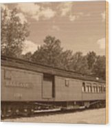 Baggage Car Wood Print