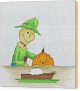 Baggs And Boo Canned Pumpkin Wood Print