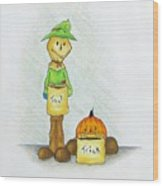 Baggs And Boo Treat Or Trick Wood Print