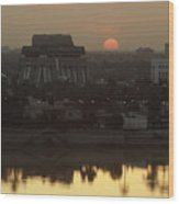 Baghdad And The Tigris River At Sunset Wood Print