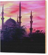 Baghdad Sunset Wood Print