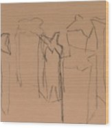 Bags On Bron Paper Wood Print
