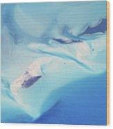 Bahama Banks Aerial Seascape Wood Print
