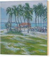 Bahama Beach  Wood Print