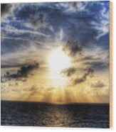 Bahama Sunset By Steve Ellenburg Wood Print