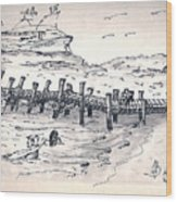 bahamas III Wood Print