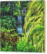 Bahamas - Tropical Waterfall Wood Print