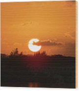 Bahamian Sunset Wood Print