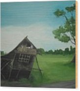 Bahay Kubo Wood Print