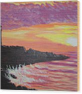 Bahia At Sunset Wood Print