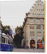 Bahnhofstrasse Zurich Wood Print