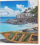 Baie Rouge Wood Print
