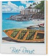 Baie Rouge Poster Wood Print