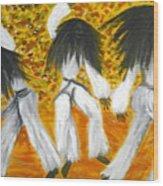 Bailar N Los Blanco  Wood Print