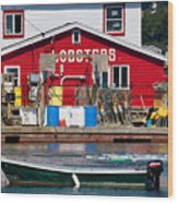 Bailey Island Lobster Pound Wood Print by Susan Cole Kelly