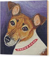 Bailey Terrier Mix Wood Print