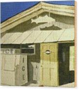 Bait Shop In Gasparilla Florida Wood Print