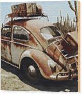 Baja Bug Wood Print