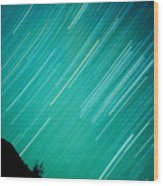 Baja Starry Night Wood Print