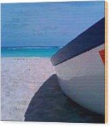 Bajan Boat Wood Print