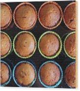 Baked Cupcakes Wood Print