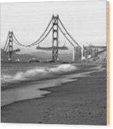 Baker Beach In Sf Wood Print