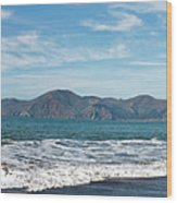 Baker Beach Panorama Wood Print
