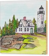 Baker Island Bar Harbor Maine Wood Print