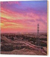 Bakersfield Wood Print