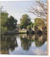 Bakewell Bridge And The River Wye Wood Print
