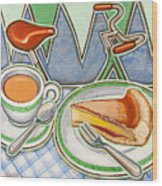 Bakewell Pudding And Cup Of Tea At Eroica Britannia  Wood Print