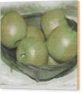 Baking Apples Wood Print