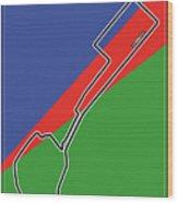 Baku Race Track Wood Print