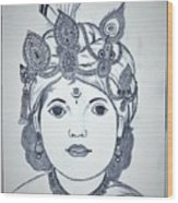 Bal Krishna Wood Print
