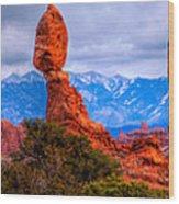 Balance Rock Pano Wood Print