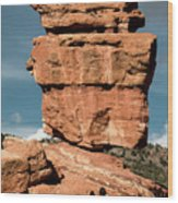 Balanced Rock At Garden Of The Gods Wood Print