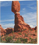 Balanced Rock In Arches National Park, Moab, Utah Wood Print