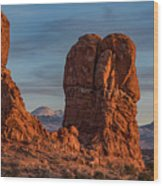 Balanced Rock Sunset Wood Print