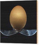Balancing Egg Wood Print