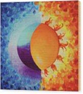Balancing Sun And Moon Energies Wood Print