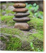 Balancing Zen Stones IIi Wood Print