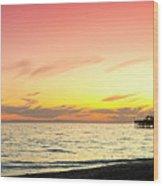 Balboa Beach Pastels Wood Print
